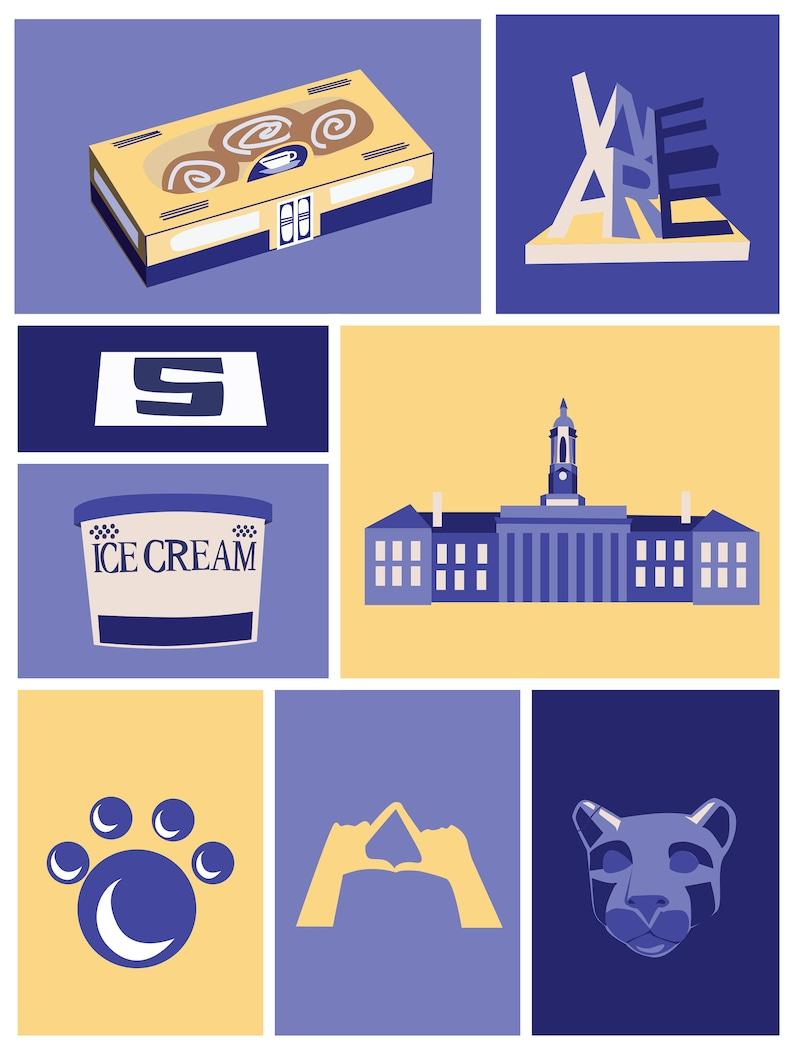 Penn State Inspired Fine Art Print