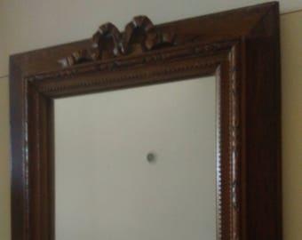 Pretty little vintage wooden mirror