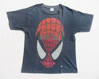 9eb849b3 vintage rare marvel spiderman face 1994 t shirt single stitched