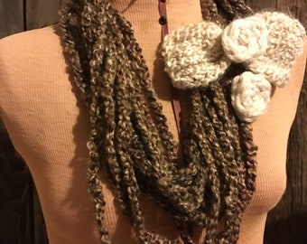 Brown Chain Infinity Scarf