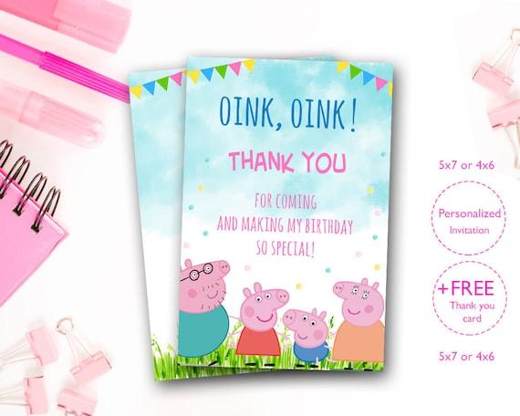 Peppa Pig Invites Invitation Party Birthday