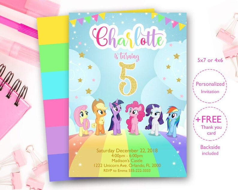 Little Pony Invites My InvitationPony Rainbow