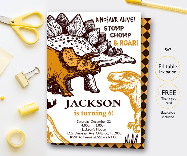 It's just a graphic of Dinosaur Party Invitations Free Printable intended for safari birthday
