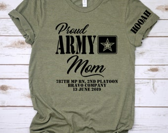 98f282437 Proud Army Mom, Dad, Brother, Sister, Boot Camp Graduation, Family Day  shirts, Army Graduation, Military Gifts
