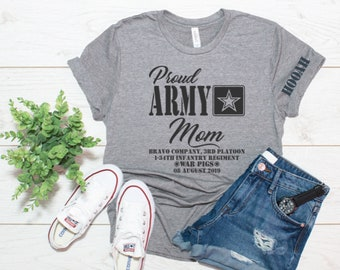 55ef243dbc8 Proud Army Mom, Dad, Brother, Sister, Boot Camp Graduation, Family Day  shirts, Army Graduation, Military Gifts