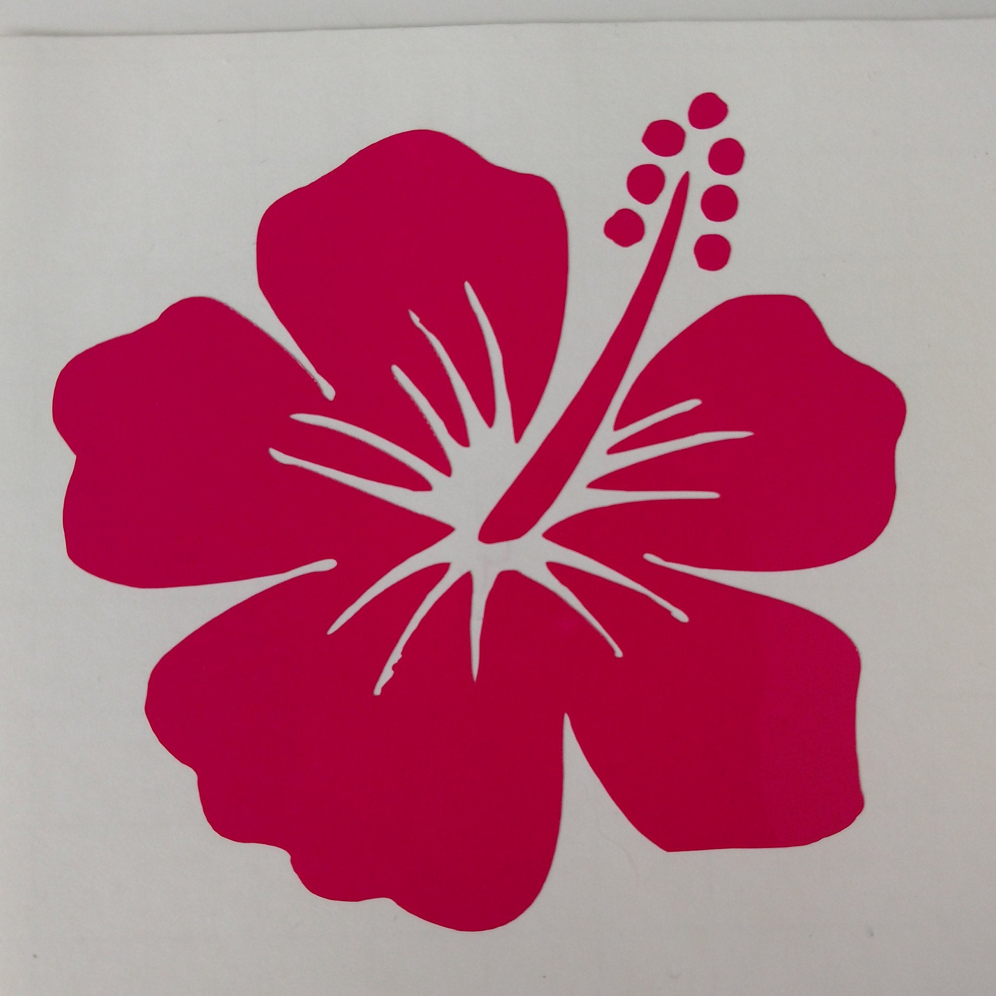 Hibiscus Flower sticker decal **Free Shipping**
