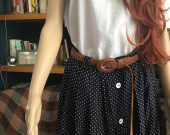 Vintage Polka-dot Maxi Folk Skirt