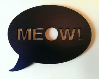 Meow speech bubble, Silhouette