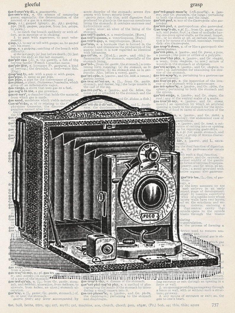 Vintage Camera Black and White
