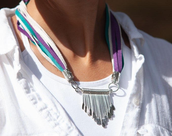 Colorful Leather Necklace