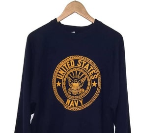 Vintage USMC US NAVY Sweatshirt   Pullover   XLarge size fdbe379b3e4