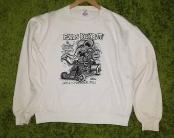 c23f7b2d43b0 Vintage RATFINK RATT Paperthin Sweatshirt Large Size