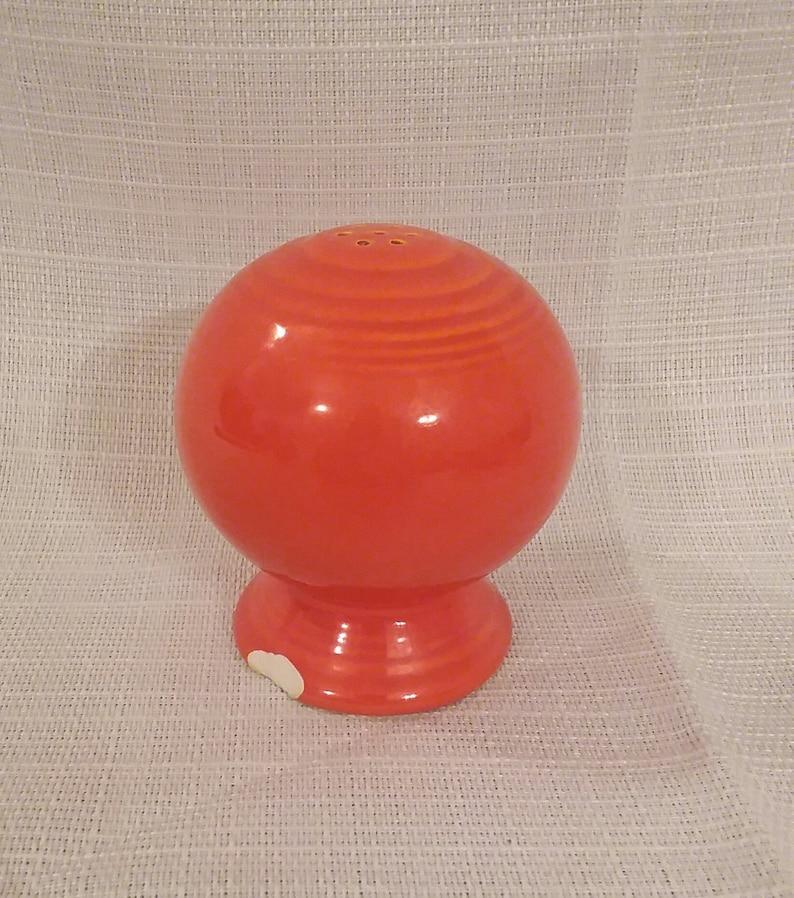 1940s vintage. Original Fiesta red round salt shaker