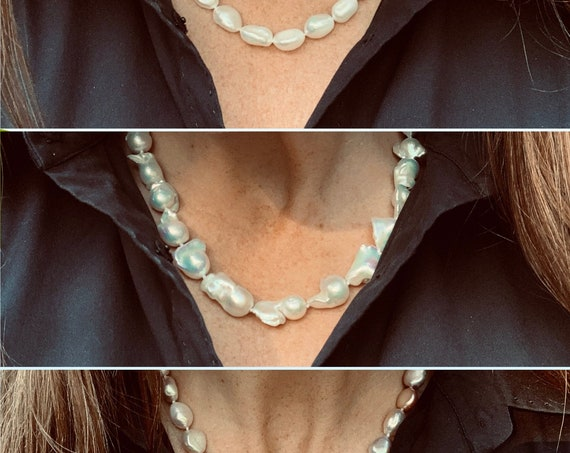 Hand-knotted Freshwater Pearl Strands, Classic Yet Modern, Chunky Yet Elegant and Easy to Wear