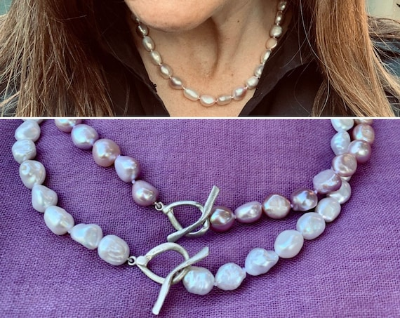 Knotted Freshwater Pearl Strands, Classic Yet Modern, Easy to Wear and Flattering