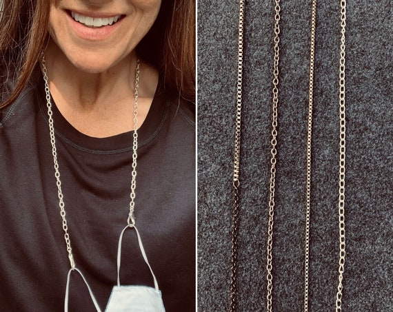 Mask Chains Made with Vintage Silver Chains and Large Lobster Clasps, Modern and Convenient, Hip and Edgy