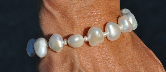 Baroque Freshwater Nugget Pearl Bracelet, Funky, Elegant and Fabulous