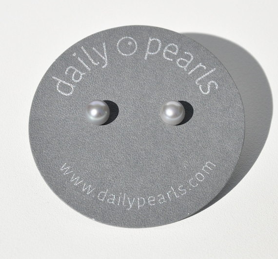 7mm Pearl Button Studs, Subtle and Small, Elegant and Sophisticated