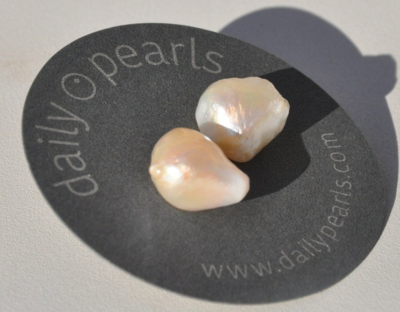 Wild Warm and Unique 16mm Baroque Pearl Studs