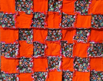 Peace And Love Flannel Rag Quilt