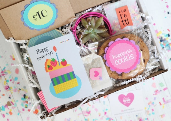 Birthday Gift Box Happy For