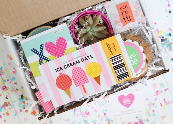 Ice Cream Date Birthday Gift Box BFF Forever Friends Gift