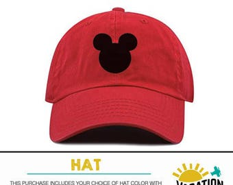 ed5a6b9c19ad5 Mickey Head Disney Hat Toddler Boy or Girl - Kids Disneyland Hat Mickey  Mouse - Disney Mickey Baseball Cap - Trendy Bday Gift Hipster Adult