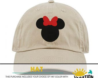 330dd73fc81 Minnie Mouse Disney Baseball Cap Kids - Toddler Girl Minnie Mouse Head Hat  Disneyland - Trendy Disneyland Minnie Hat Girl - Disney Birthday