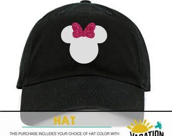 1c70e9eef0b Kids Minnie Mouse Hat Disneyland - Toddler Girl Minnie Head Disney Baseball  Cap - Trendy Disneyland Hat Girl - Bday Party Disney Minnie Gift