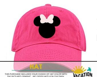 0e502f74659 Toddler Girl Minnie Mouse Baseball Cap - Disney Minnie Hat Disneyland -  Kids Disney Minnie Baseball Cap - Trendy Disney Birthday Party Hat