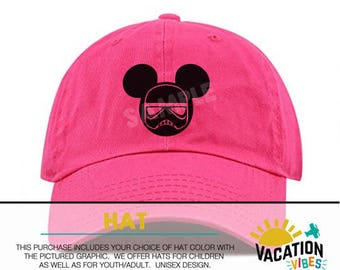 Mickey star wars Disney Hat storm trooper Toddler Boy or Girl - Kids  Disneyland Hat - Disney Baseball Cap Gift matching starwars hats adult 1f13612a80a4