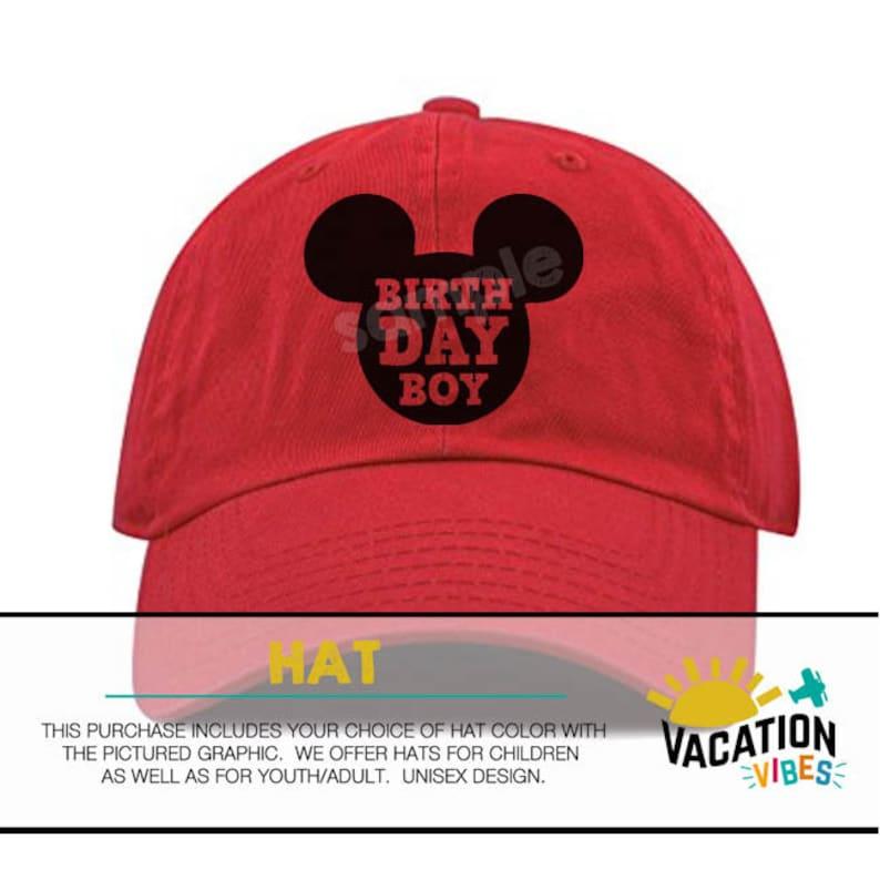 b5036d99e36 Birthday Boy Disney Hat Toddler Kids Bday Mickey Mouse