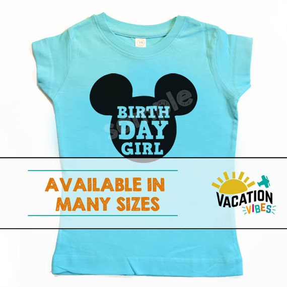 cb4f28e3d59 Disney Birthday Girl Mickey Mouse Shirt Kids Birth Day Girl