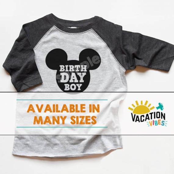 Disneyland Birthday Boy Raglan Shirt Kids Disney Birth Day