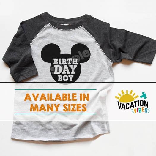 ae329754f35 Disneyland Birthday Boy Raglan Shirt Kids Disney Birth Day