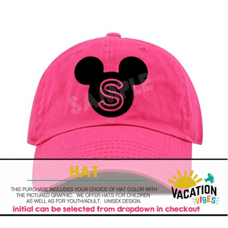 8fa2fc4826cb9 Mickey Disney Hat Kids Personalized Toddler Boy or Girl