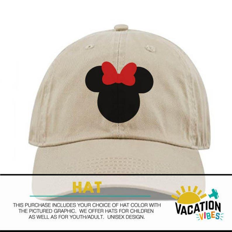 285893ce5 Minnie Mouse Disney Baseball Cap Kids Toddler Girl Minnie | Etsy