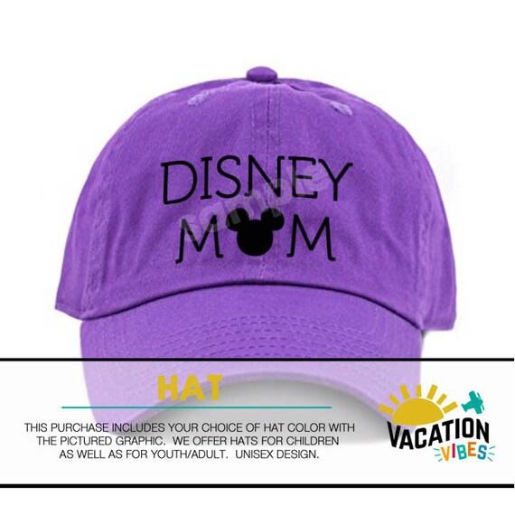 880bec1ef28 Disney Mom Hat Disney Mom Baseball Cap Disneyland Mickey