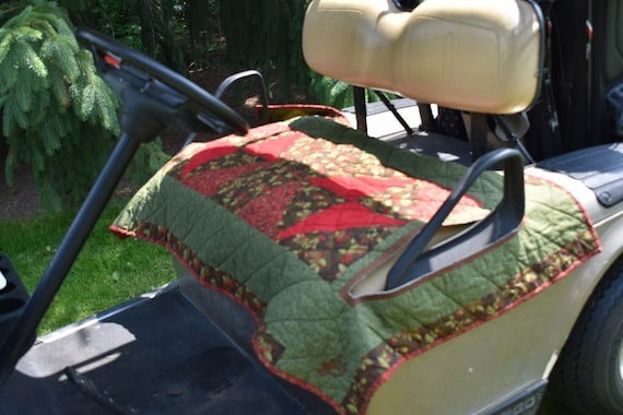 Argyle Forest Quilted Reversible Golf Cart Seat Cover | Etsy on