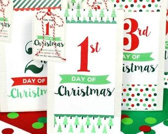 christmas countdown 12 days of christmas neighbor gift digital product - 12 Day Of Christmas