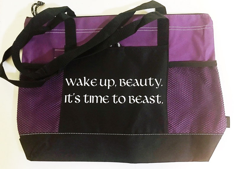 Wake up Beauty Its time to Beast Tote Pockets Bag Dragon/'s Bag Girl Power Strength Parenting Raising Kids Mother Diaper Bag Shopping