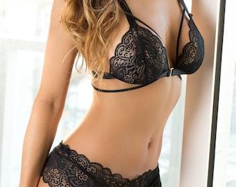 Black Lace Lingerie Set NOIR + Panty