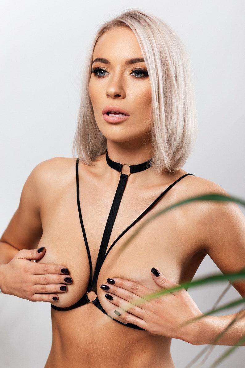 Black body harness lingerie SUN