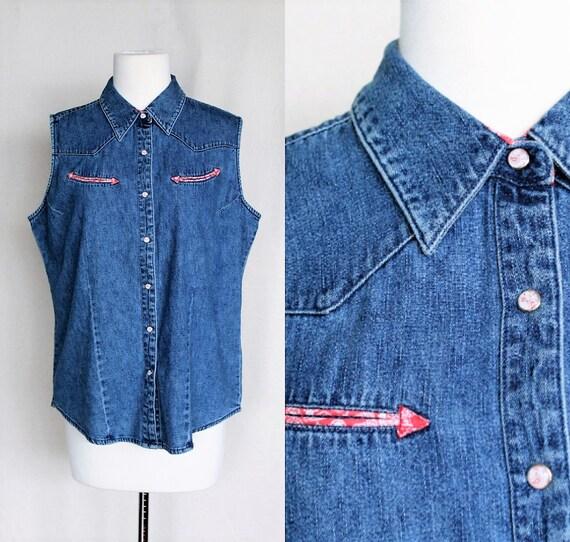 Wrangler Western Shirt Women/Wrangler Jeans Vintag