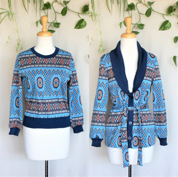 Retro 70s Patterned Sweater/That 70s Show Vintage