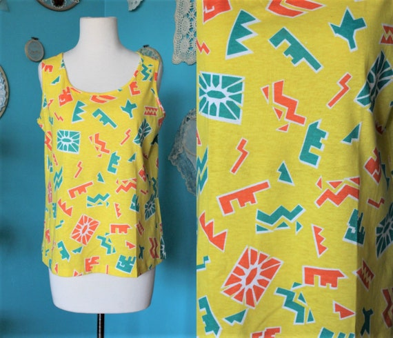 Yellow Tank Top/90s Clothing Fresh Prince/90s Hip