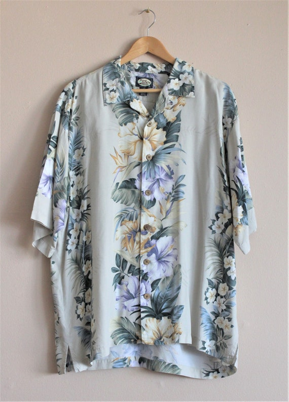 Tommy Bahama Shirt/Mens Hawaiian Shirts/Aloha Shi… - image 8