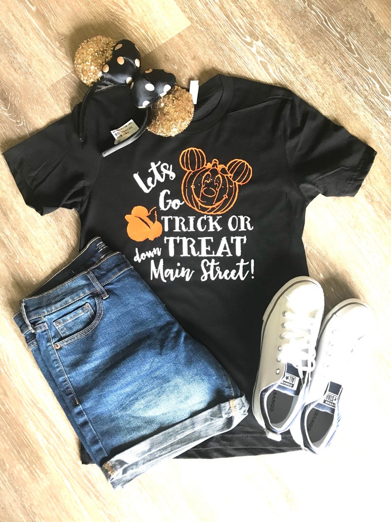Disney Halloween Shirts Etsy.Disney Halloween Shirts Trick Or Treat Down Main Street Shirt Halloween Shirts Mickey Not So Scary Shirt Disney Shirts Disneyland Shirts