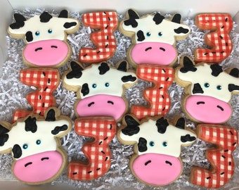 Cow Cookies Etsy
