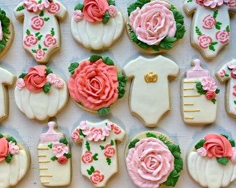Floral Baby Cookies